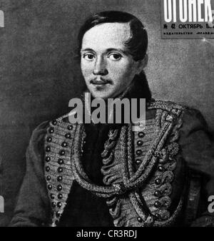 Lermontov, Mikhail Yuryevich, 15.10.1814 - 27.7.1841, Russian author / writer ( poet), portrait, in uniform of the - Stock Photo