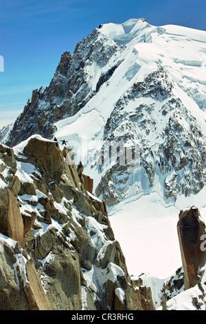 Snow-covered mountains, Chamonix, France, Europe - Stock Photo