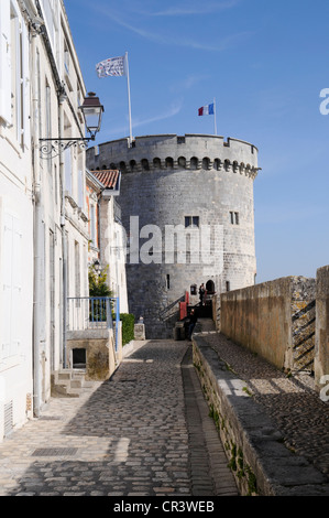 Tour de la Chaine tower, port, La Rochelle, Charente-Maritime, Poitou-Charentes, France, Europe, PublicGround - Stock Photo