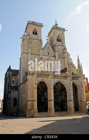 Notre-Dame Church, village, municipality, Semur-en-Auxois, Dijon, Cote-d'Or, Bourgogne, Burgundy, France, Europe, - Stock Photo