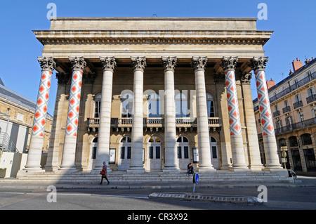 Theatre, Dijon, Cote-d'Or, Bourgogne, Burgundy, France, Europe, PublicGround - Stock Photo