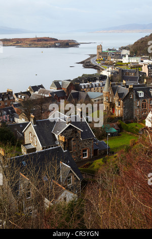 View over Oban from McCaigs Tower. Oban - Stock Photo