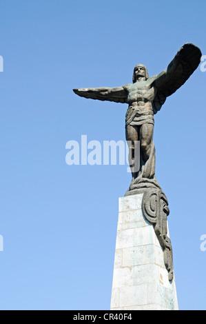 Eroilor Aerului, Monument to the Heroes of the Air, Bulevardul Aviatorilor, Aviators' Boulevard, Bucharest, Romania - Stock Photo