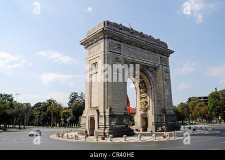 Triumphal Arch, Bucharest, Romania, Eastern Europe, Europe, PublicGround - Stock Photo