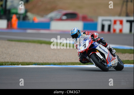 carlos checa on the ducati WSBK 2012 - Stock Photo