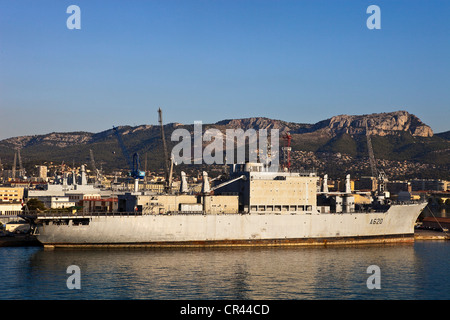 France, Var ( 83 ), Toulon, the naval base or the Arsenal - Stock Photo