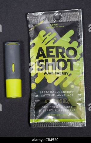 Aero Shot inhalable caffeine sticks.  - Stock Photo