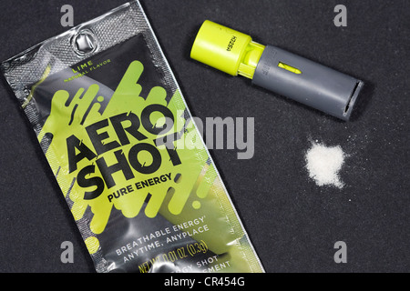 Aero Shot inhalable caffeine sticks.  - Stock Photo