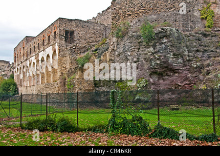 Italy: Outer wall of ancient Roman city of Pompeii - Stock Photo