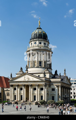 French Cathedral in Gendarmenmarkt square, Berlin, Germany, Europe - Stock Photo