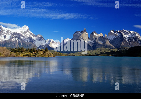 Chile, Magallanes and Antartica Chilena Region, Ultima Esperanza Province, Torres del paine National Park, Pehoe - Stock Photo
