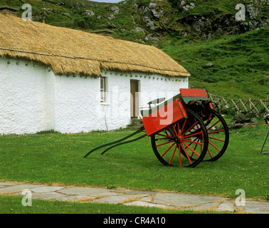 Cart at the Museum of Folk Culture, Glencolumbkille, County Donegal, Republic of Ireland, Europe - Stock Photo