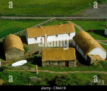 Museum of Folk Culture, Glencolumbkille, County Donegal, Republic of Ireland, Europ - Stock Photo