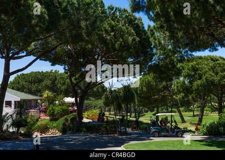 Clubhouse on the South Course near Vilar do Golf, Quinta do Lago, Algarve, Portugal - Stock Photo