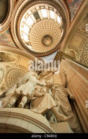 France, Paris, the Quartier Latin, the Pantheon - Stock Photo