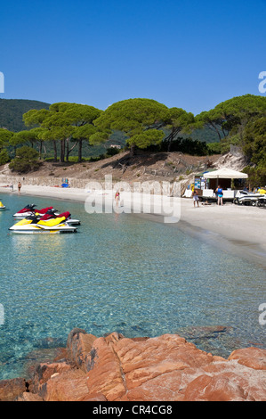 France, Corse du Sud, Porto Vecchio, Palombaggia beach, described as the south of the island most beautiful beach, - Stock Photo