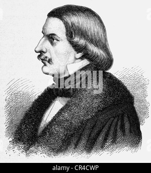 Karl Ferdinand Gutzkow (1811 - 1878), writer, steel engraving, before 1880 - Stock Photo