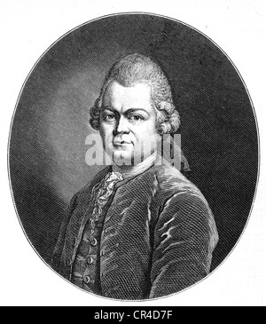 Gotthold Ephraim Lessing (1729-1781), poet - Stock Photo