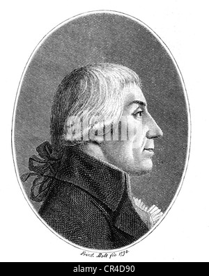 Gottfried August Buerger (1747-1794), poet - Stock Photo