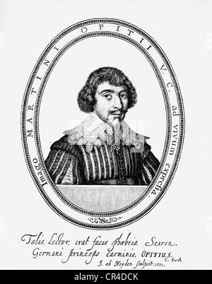 Martin Opitz von Boberfeld (1597-1639), poet - Stock Photo