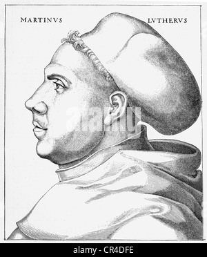 Martin Luther (1483-1546), 38 years old, in habit - Stock Photo