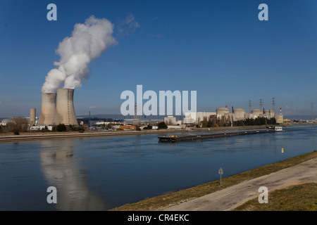 St Paul Trois Chateaux, Tricastin industrial and nuclear site, Bollene industrial site, Drome, France, Europe - Stock Photo