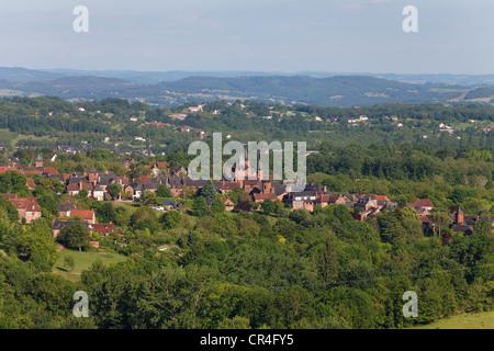 Collonges la Rouge, labelled Les plus beaux villages de France, The most beautiful villages of France, Dordogne - Stock Photo