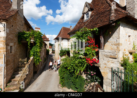Carennac, labelled Les Plus Beaux Villages de France, The Most Beautiful Villages of France, Dordogne valley, Haut - Stock Photo