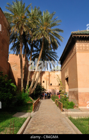Saadian tombs, Medina old town of Marrakesh, Unesco World Heritage Site, Morocco, North Africa - Stock Photo