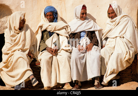 Tunisia, Tataouine Governorate, Ksar Ouled Soltane, guards of the old fortress of the desert - Stock Photo