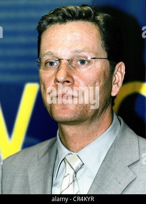 Westerwelle, Guido, 27.12.1961 - 18.3.2016, German politician (FDP), portrait, as FDP secretary general, 2000, - Stock Photo
