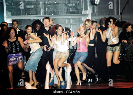 No Angels, German pop group, formed in 2001, onstage at the Echo Awards, Berlin, 2001, Additional-Rights-Clearances - Stock Photo