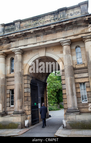 Brompton Cemetery Arch Entrance on Old Brompton RD - London UK - Stock Photo