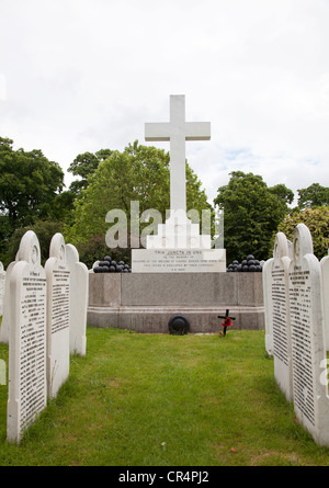 War Graves section in Brompton Cemetery in London UK - Stock Photo