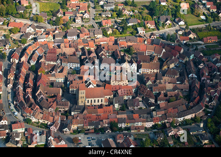 France, Haut Rhin, Alsace Wine Route, Eguisheim village, labelled Les Plus Beaux Villages de France, birth village - Stock Photo