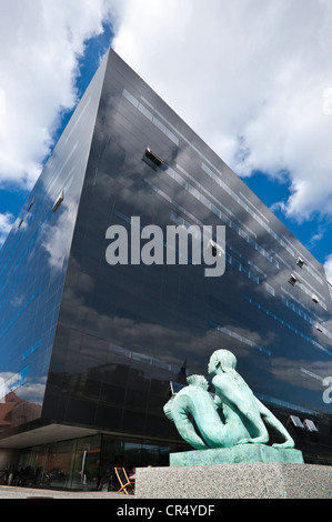Royal Danish Library, Den Sorte Diamant, The Black Diamond, Copenhagen, Denmark, Europe, PublicGround - Stock Photo