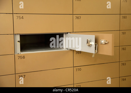 Empty safe-deposit box - Stock Photo