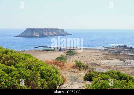 Geronisos island, Agios Georgios area, Paphos district, Cyprus - Stock Photo