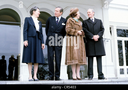 Beatrix, * 31.1.1938, Queen of the Netherlands 30.4.1980 - 30.4.2013, state visit to West Germany, mit husband Prince - Stock Photo
