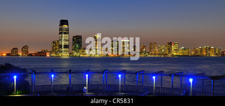 View of Exchange Place in Jersey City, New Jersey, USA. - Stock Photo