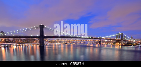 Skyline of Brooklyn in New York City - Stock Photo