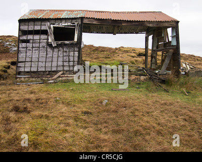 Derelict Shieling, Isle of Lewis, Scotland - Stock Photo