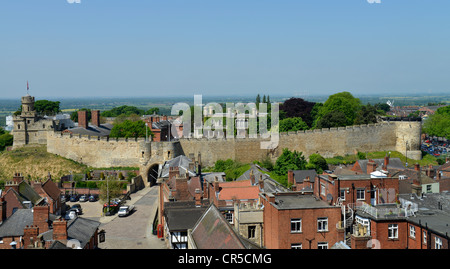 Lincoln Castle from The Cathedral -1