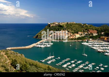 Italy, Tuscany, La Maremma, Monte Argentario, Porto Ercole - Stock Photo