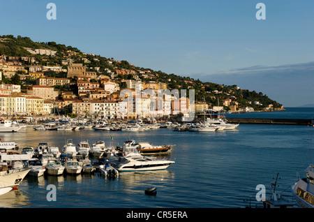 Italy, Tuscany, La Maremma, Monte Argentario, Porto Santo Stefano - Stock Photo