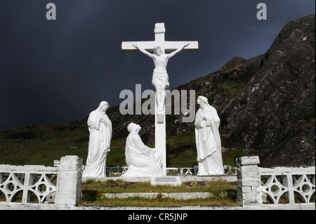 Crucifix, Healy Pass, West Cork, Ireland - Stock Photo