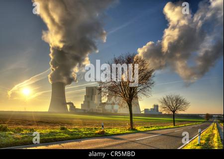 Neurath brown coal power station, Grevenbroich, North Rhine-Westphalia, Germany, Europe - Stock Photo