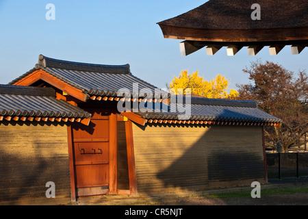 Japan, Honshu Island, Kinki Region, city of Nara, site of the Imperial Palace of Heijo - Stock Photo