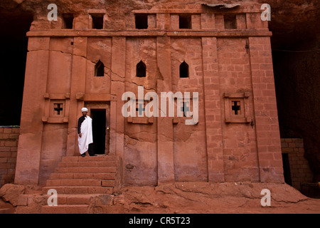 Bet Abba Libanos Rock-Hewn Church, Northern Cluster, Lalibela, Ethiopia, Africa - Stock Photo