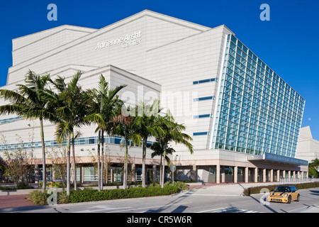 United States, Florida, Miami, city centre, Adrienne Arsht Center for the Performing Arts conceived by Argentinian - Stock Photo